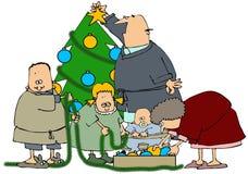 Family Tree Decorating Stock Photos