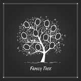 Family tree design, insert your photos into frames Royalty Free Stock Photo