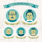 Family tree in doodle style Royalty Free Stock Photo