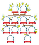 Family tree generation, empty icons Royalty Free Stock Photography