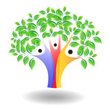 Family tree. A family tree with green colored leaves royalty free illustration