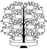 Family Tree/eps. Hand drawn decorative family tree with room to personalize with family names Royalty Free Stock Image