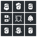 Family tree icons set. Vector Illustration. Royalty Free Stock Photos