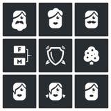 Family tree icons set. Vector Illustration. Royalty Free Stock Photos