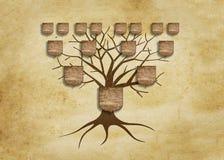 Family tree illustration. For your design stock illustration