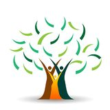 Family tree logo, family, parent, kids,green love, parenting, care, symbol icon design vector on white background. In ai 10 illustrations vector illustration
