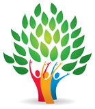 Family Tree Logo. A family tree with leaves logo icon