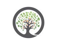 Family tree logo template. Vector illustration Stock Photos