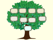 Family tree one person vector background royalty free illustration