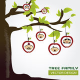 Family tree. Over gray background vector illustration royalty free illustration