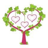 Family tree. Photo frame. Family Tree. A heart stock illustration