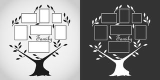 Family tree with photos Royalty Free Stock Images