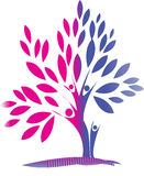 Family tree. In pink and blue Stock Image
