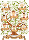 Family tree with portraits of family members vector Stock Photo