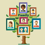 Family tree, relationships and traditions Stock Image