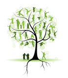 Family tree, relatives, people silhouettes Stock Image