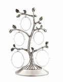Family tree silver photo frame Royalty Free Stock Photography