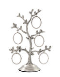Family tree silver photo frame Royalty Free Stock Images