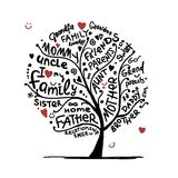 Family tree sketch for your design royalty free illustration