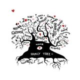Family tree sketch for your design Stock Photos