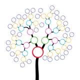 Family tree. Stylized colorful family tree on white background Royalty Free Stock Image