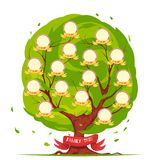 Family Tree Template Royalty Free Stock Photos