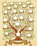 Family Tree template vintage vector Royalty Free Stock Photography