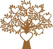 Family Tree. The Family Tree vector illustration Stock Photos