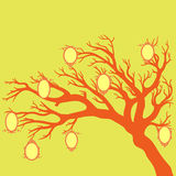 Family tree.Vector illustration. Family tree.Vector illustration with baroque frame silhouettes Stock Photography