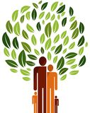 Family tree vector illustration logo royalty free illustration