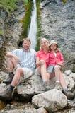 Family trekking Stock Photo