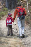 Family trekking Stock Image