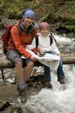 Family trekking Royalty Free Stock Photography