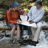 Family trekking Royalty Free Stock Photography