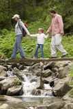 Family trekking Royalty Free Stock Images