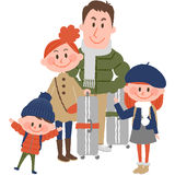 Family trip. A vector illustration of good family going to travel stock illustration