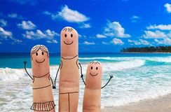 Family on the beach. Exotic vacation. Family  on a tropical beach.  Exotic vacation Stock Images