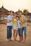 Family at tropical resort. Stock Photo