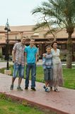 family in tropical ressort Stock Photography