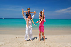 Family tropical vacation Royalty Free Stock Image