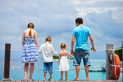 Family at tropical vacation Stock Image