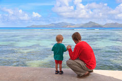 Family tropical vacation royalty free stock images
