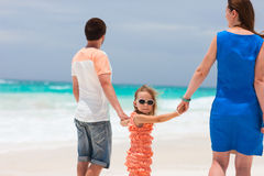 Family on a tropical vacation Stock Photo