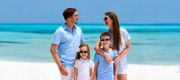 Family on tropical vacation Stock Photos