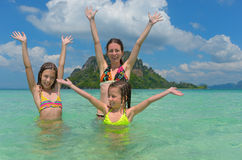 Family tropical vacation Royalty Free Stock Photos
