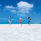 Family at tropical vacation Stock Photos