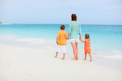 Family on tropical vacation Royalty Free Stock Images