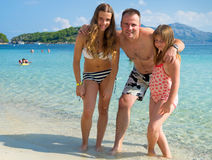 Family in tropics Stock Photo