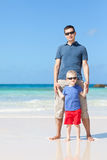 Family of two at the beach Royalty Free Stock Photos