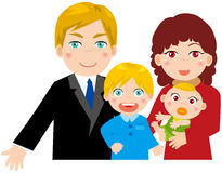 Family with two children. Illustration of family with two children Stock Illustration